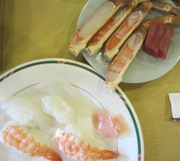 カニとお寿司