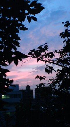 時間がたつにつれ、空の色が変わってく・・・・