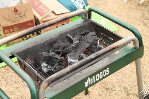 BBQの火おこし