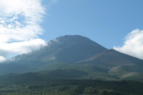 水ヶ塚駐車場から見える富士山