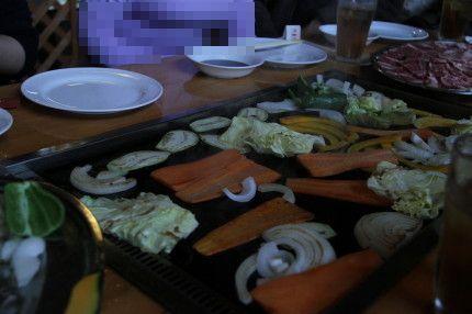 お野菜を鉄板でヤキヤキ