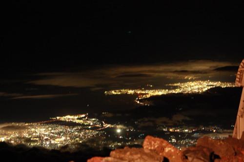 8合目から見た夜景