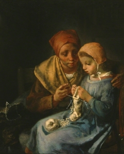 Jean-François_Millet_-_The_Knitting_Lesson