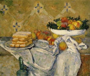 cezanne Compotier and Plate of Biscuits