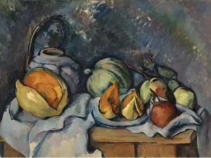 cezanne Nature morte aux fruits et pot de gingembre