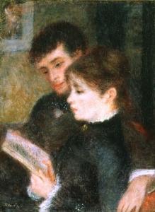 renoir couple lisant