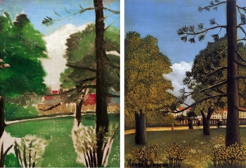 henri rousseau View Of Parc De Montsouris