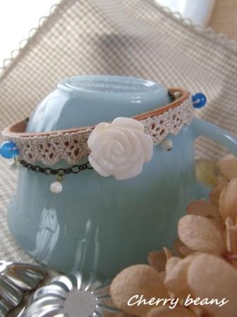 シェル薔薇とブルーメノウのブレス