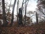 18 苦労の末のセルフ撮影・鶴ケ鳥屋山