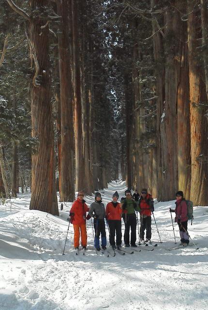 09 見事な杉並木をバックに記念撮影