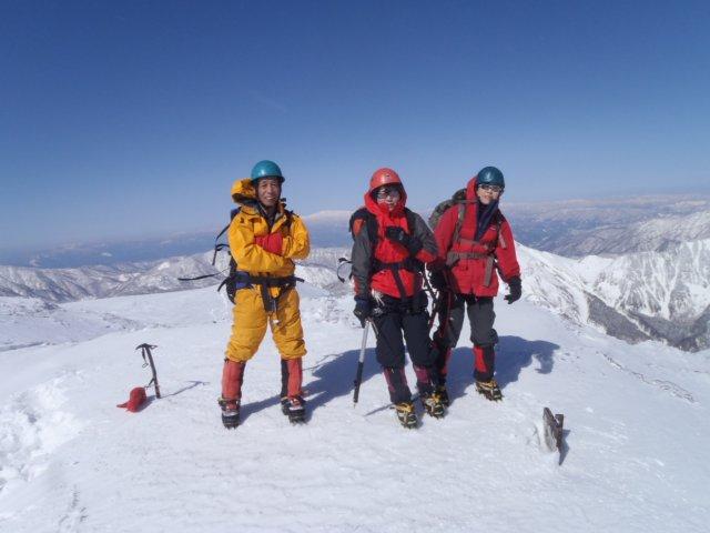 霞沢岳山頂
