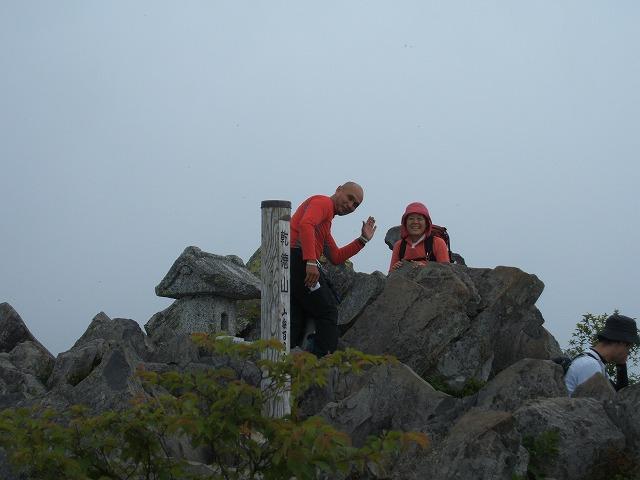 26山頂にてⅠさんと