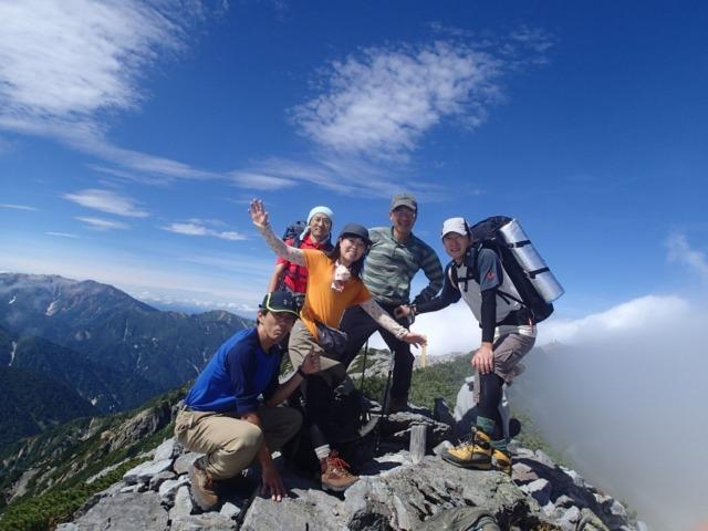 21ついにGOALの蓮華岳山頂