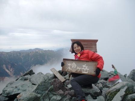 02 槍ヶ岳山頂にて