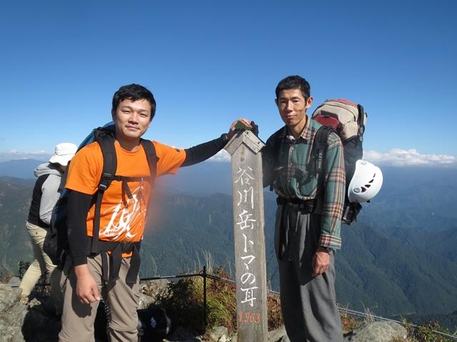 13 谷川岳山頂にて