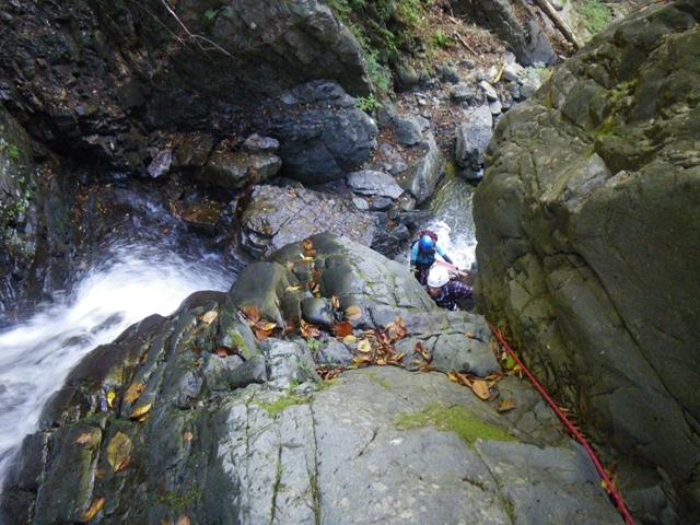 14 四町四反沢 2段13mの滝(F1) 4