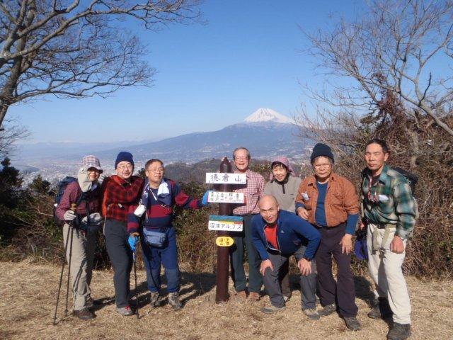 H250129-20 岩戸山、沼津アルプス徳倉山山頂(256m)