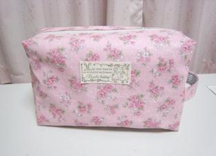 オムツポーチーピンク花柄ー110611