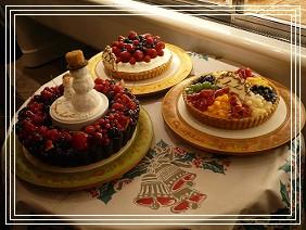 キルフェボンのクリスマスケーキ。