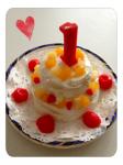 1歳ケーキ。