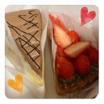 ストロベリーハウスのケーキ。