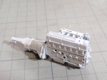 S130Zエンジン仮組み