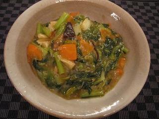 タア菜の中華炒め
