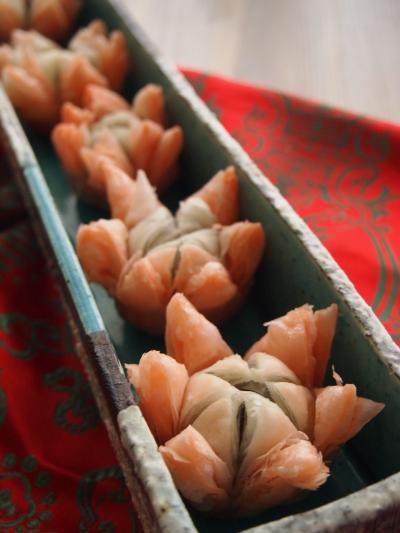 蓮の花揚げ菓子