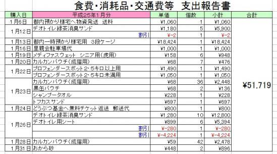 H25-01食費消耗品