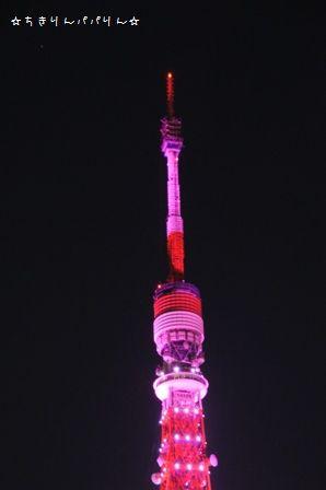 ピンクライトアップ東京タワー③