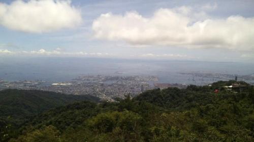 神戸空港が見える