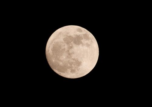 しろっぽい月