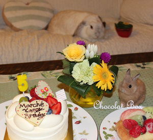 マルシェ5歳誕生日ケーキ♪