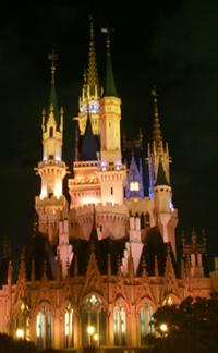 ハロウィンカラーのシンデレラ城