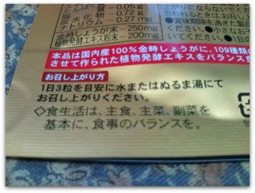 国内産金時しょうが+植物発酵エキス109種