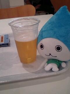 ビールと茹でピーナッツでちょっと休憩