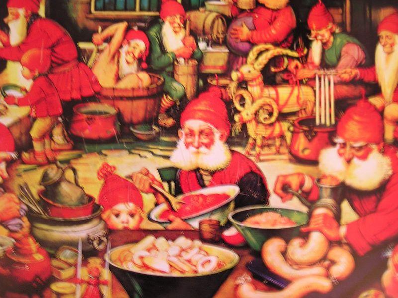 サンタと小人たち