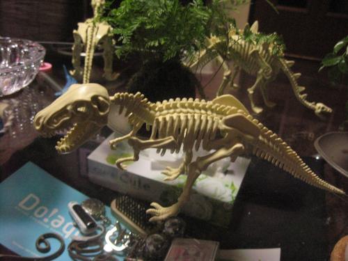 ティラノサウルスの化石 100均