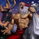 サンタ やる気まんまん