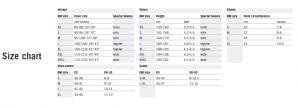 デマルキ サイズ表