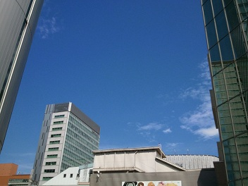 8月の青空