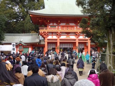 お正月の氷川神社