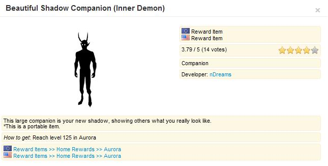 Beautiful Shadow Companion (Inner Demon)