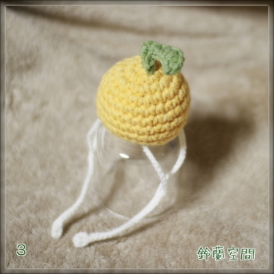編みみかん 落下防止の紐付き 3
