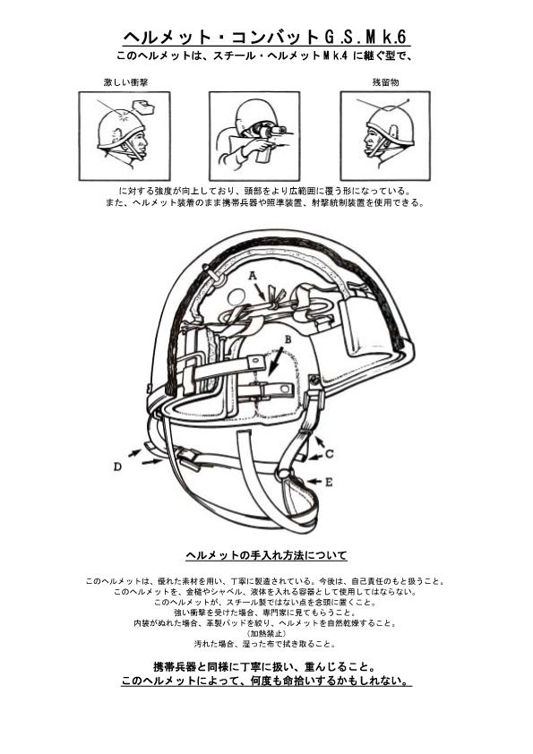MK6ヘルメット・マニュアル
