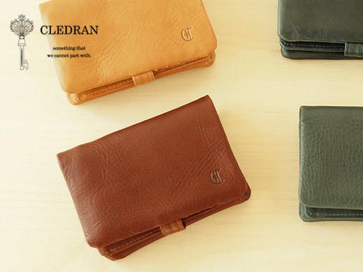 CLEDRANの二つ折り財布別