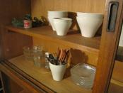 大きな水屋タンス 木味ナチュラル 食器棚 店舗什器