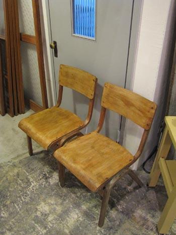 英国アンティーク 木製スクールチェア キッズチェア