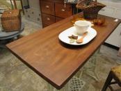 リデザイン家具 リメイク家具 ミシン脚テーブル 古材天板