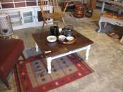リメイク家具 ペイント脚のローテーブル 茶ぶ台
